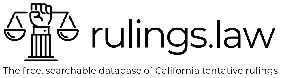 rulings.law - the free, searchable database of California tentative rulings